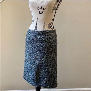 Talbots Multicolored Blue Tweed Pencil Skirt
